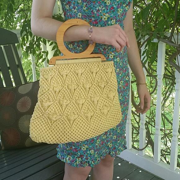 Unknown Handbags - Vintage Macrame Purse